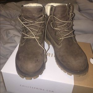 Suede timberlands. Great condition . Rarely worn